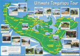 Tongatapu island map, Kingdom of Tonga