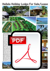 Property Tonga - tourism investment, resort sale